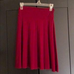 Red super stretchy papaya skirt size small